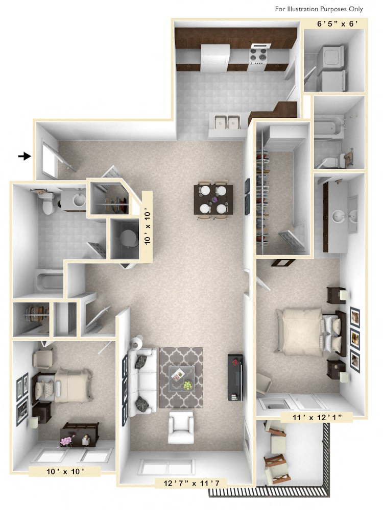 The Henry - 2 BR 2 BA
