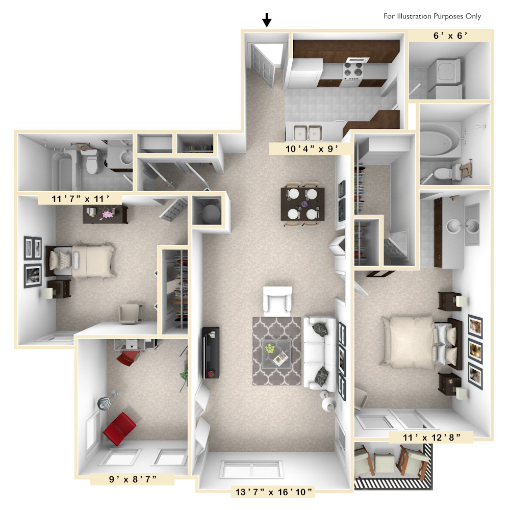 The Madison - 2 BR 2 BA