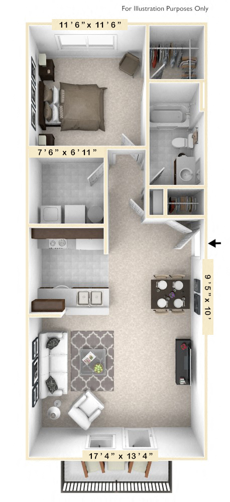 The Harrison - 1 BR 1 BA