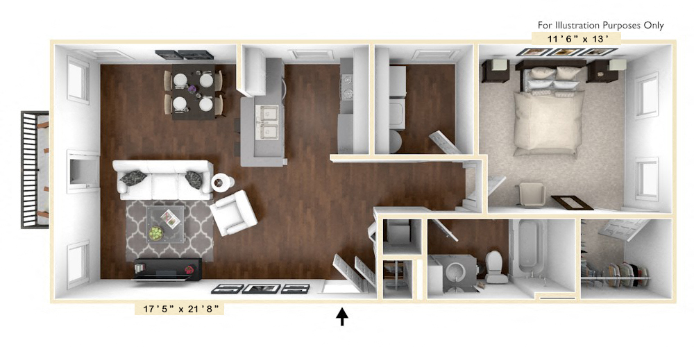 The Madison - 1 BR 1 BA