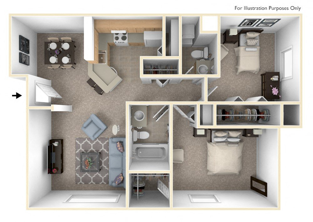 Standard Two Bedroom