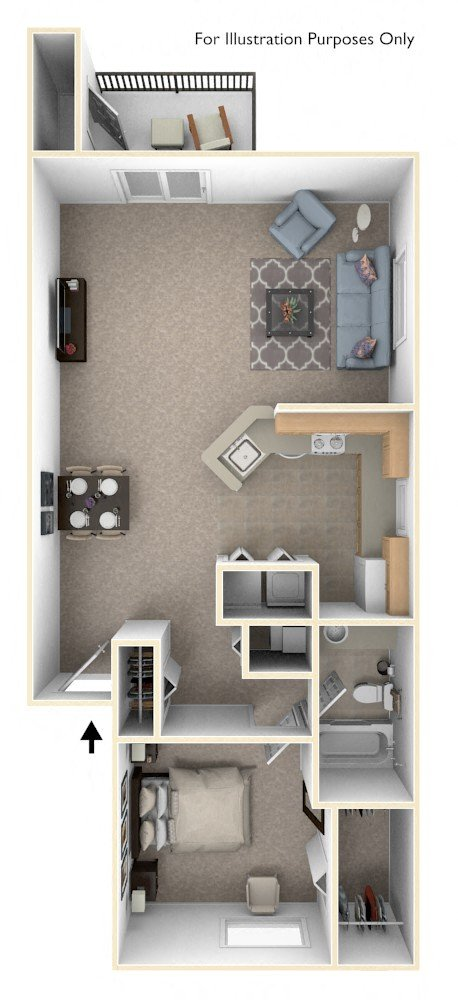 One Bedroom Full Size & One Bedroom Expanded Full Size & One Bedroom Expanded