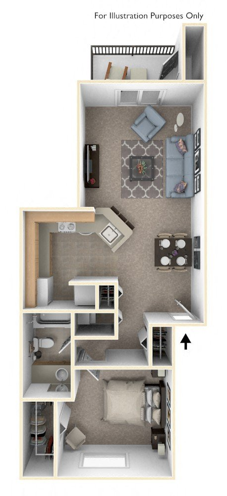 One Bedroom Stackable