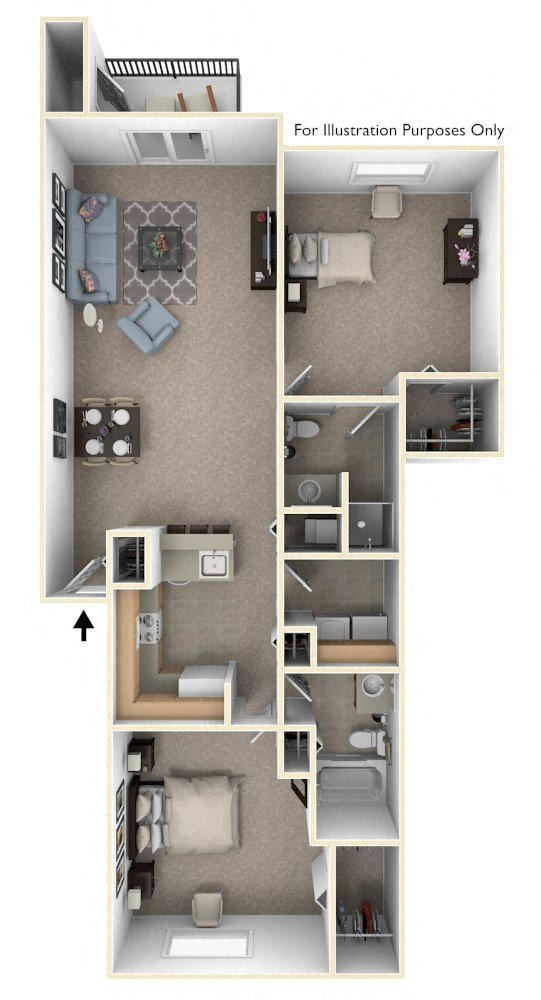 One Bedroom End