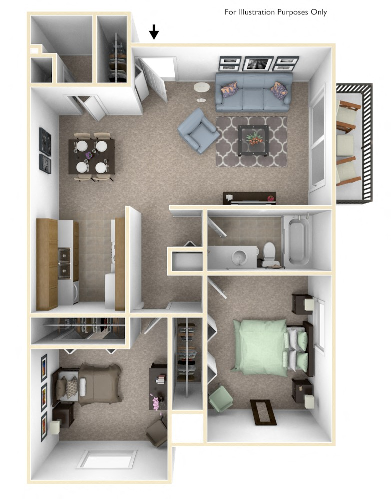1-Bed/1-Bath, Magnolia