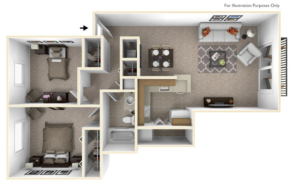 2-Bed/1-Bath, Sunflower