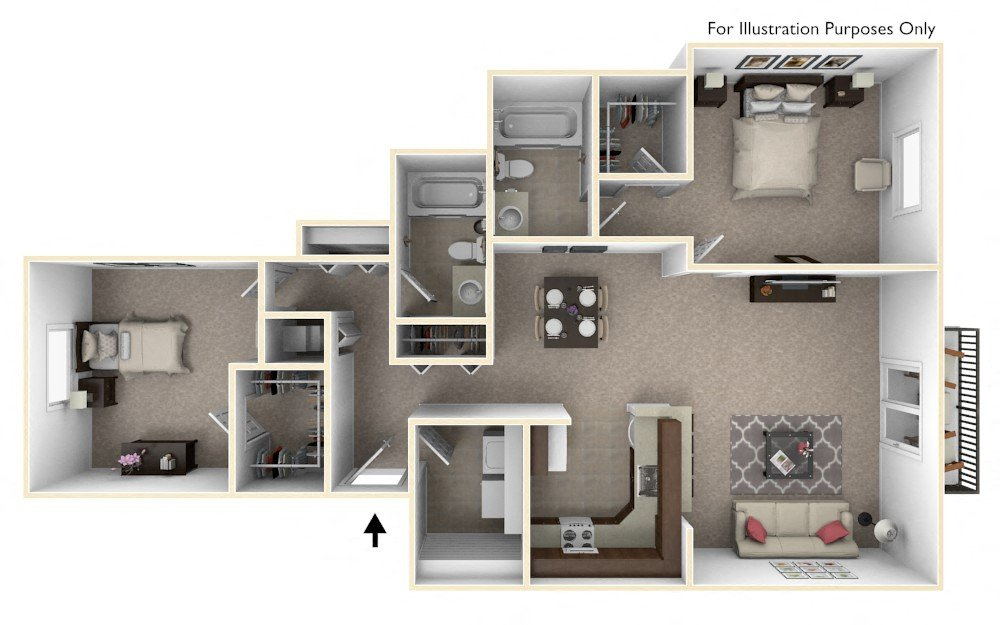 The Harbours Apartments In Clinton Twp MI Edward Rose Interesting Floor Plan 2 Bedroom Apartment Style Painting