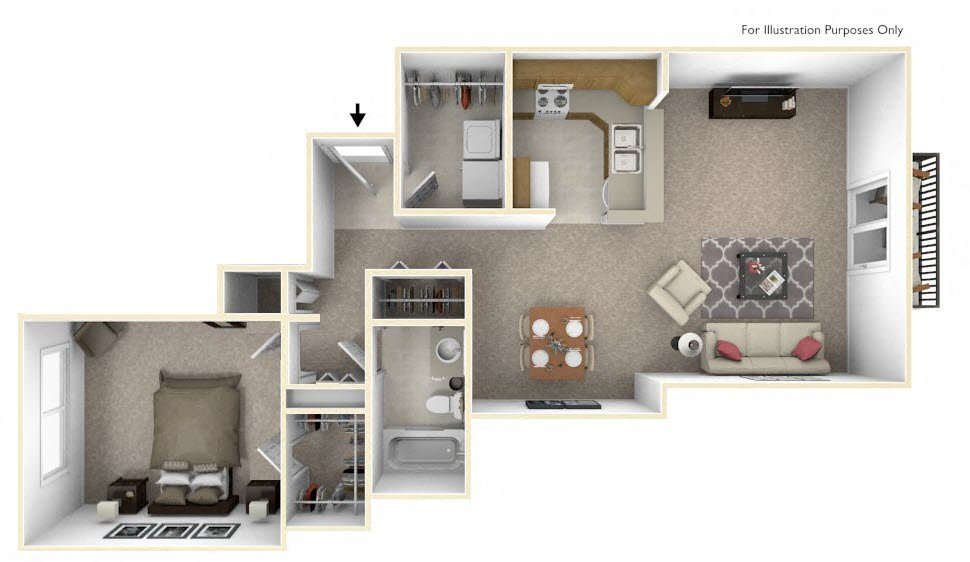 The Harbours Apartments In Clinton Twp MI Edward Rose Extraordinary Floor Plan 2 Bedroom Apartment Style Painting