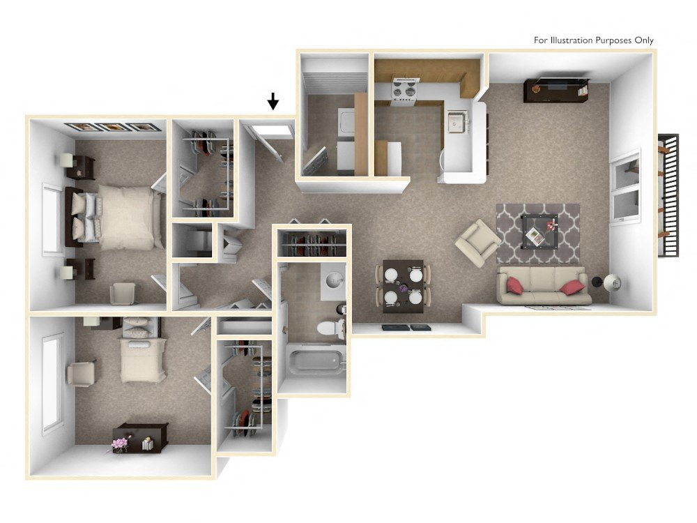 1-Bed/1-Bath, Aster