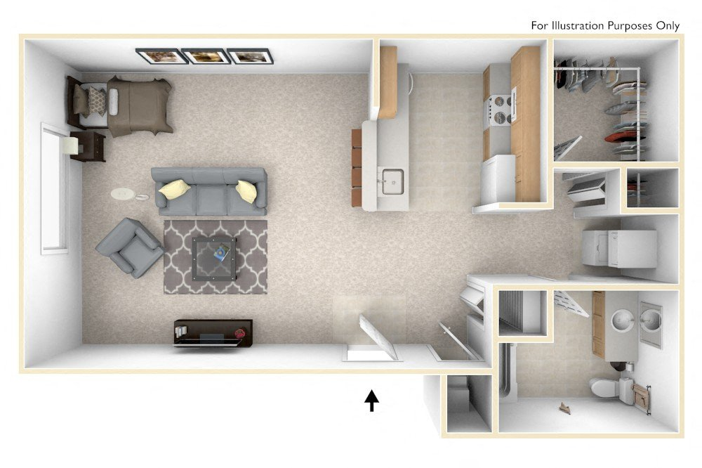0-Bed/1-Bath, Daniel (studio)