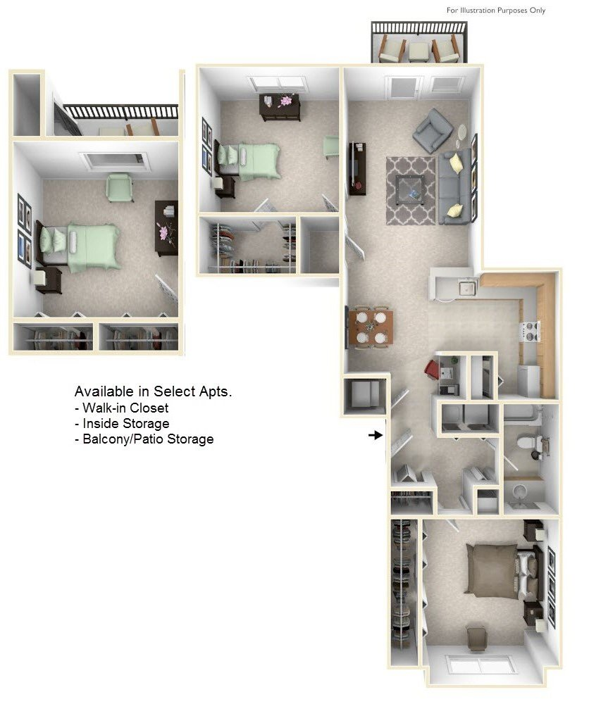 2-Bed/1-Bath, Dawn