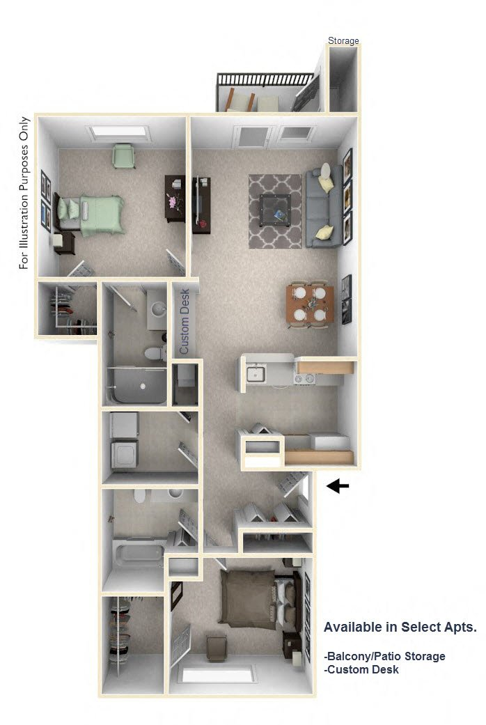 2-Bed/2-Bath, Jonathan