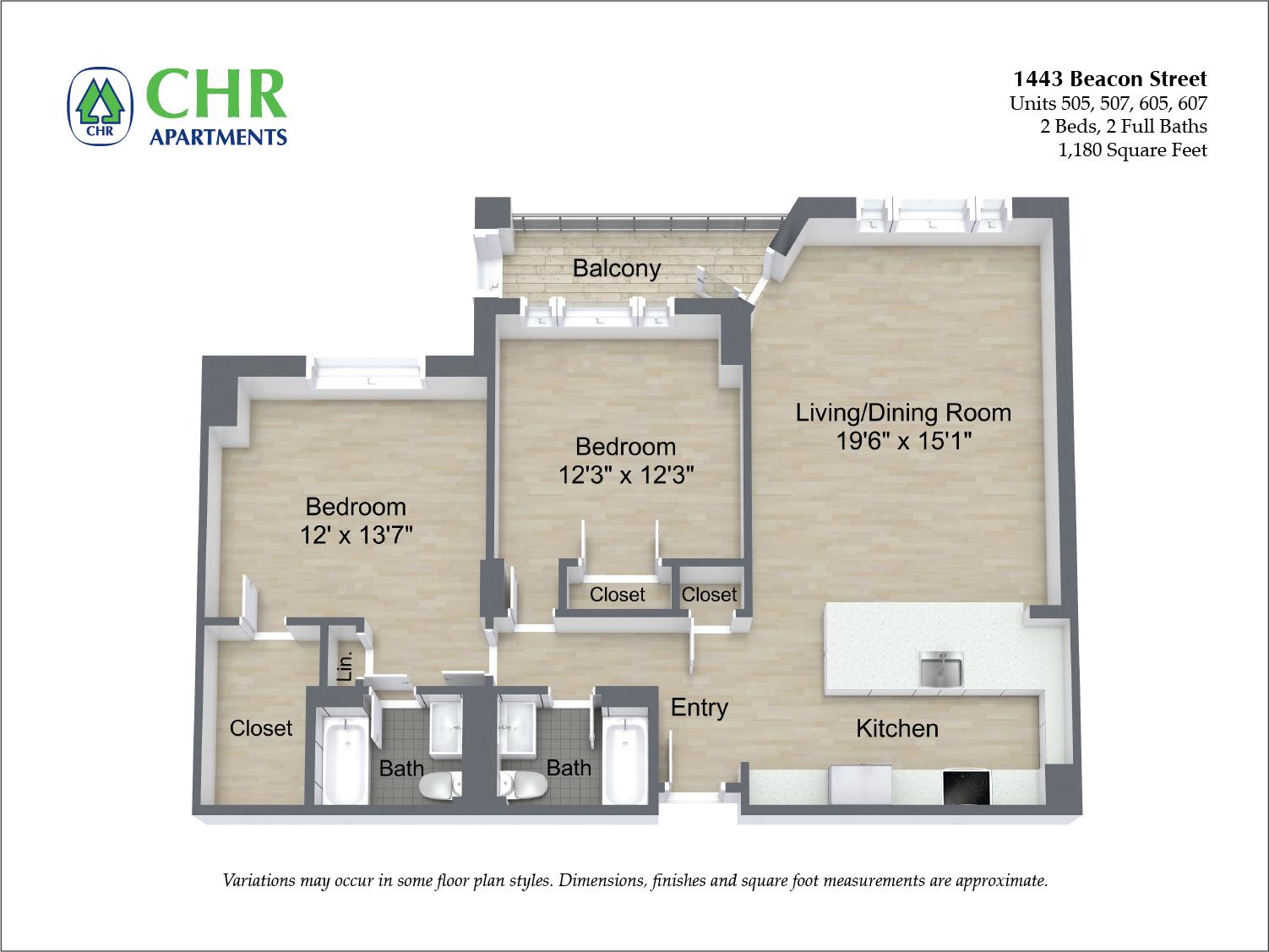 Floor plan 2 BR image 5