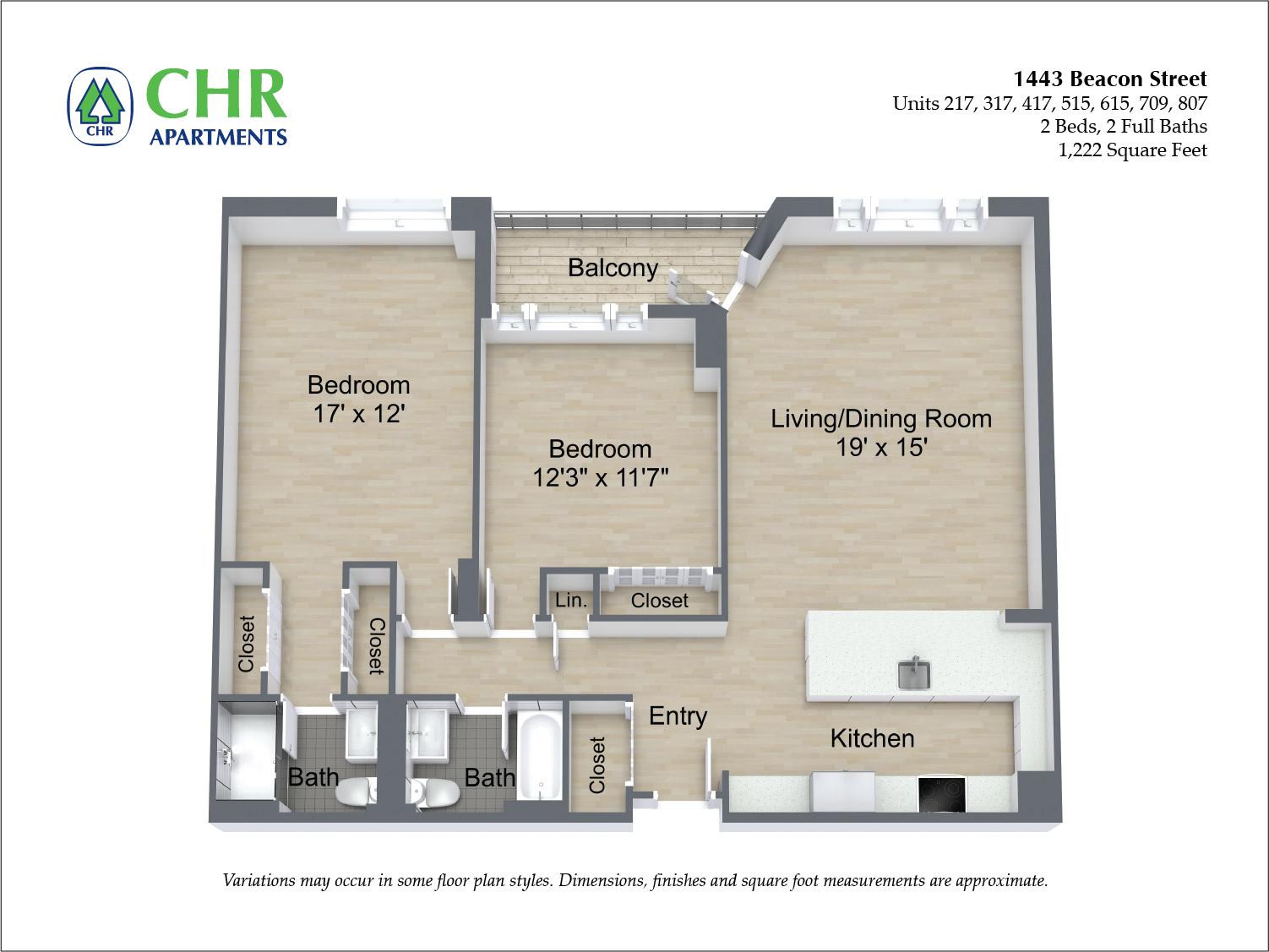 Floor plan 2 BR image 7