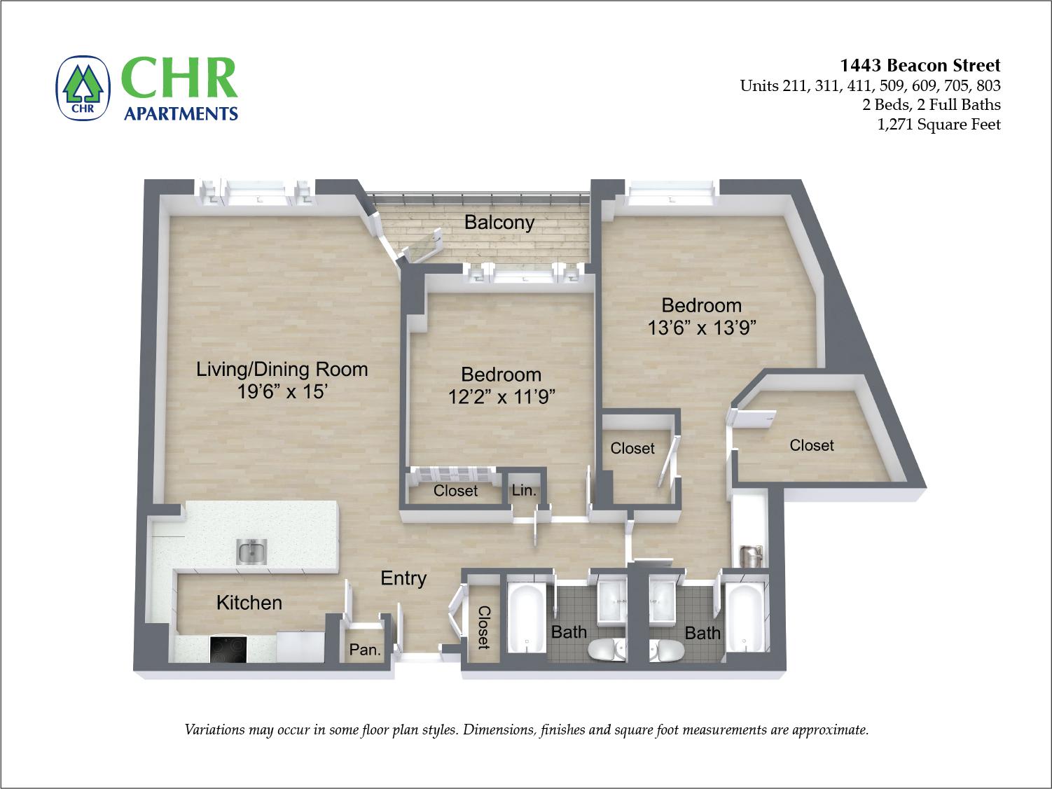 Floor plan 2 BR image 9