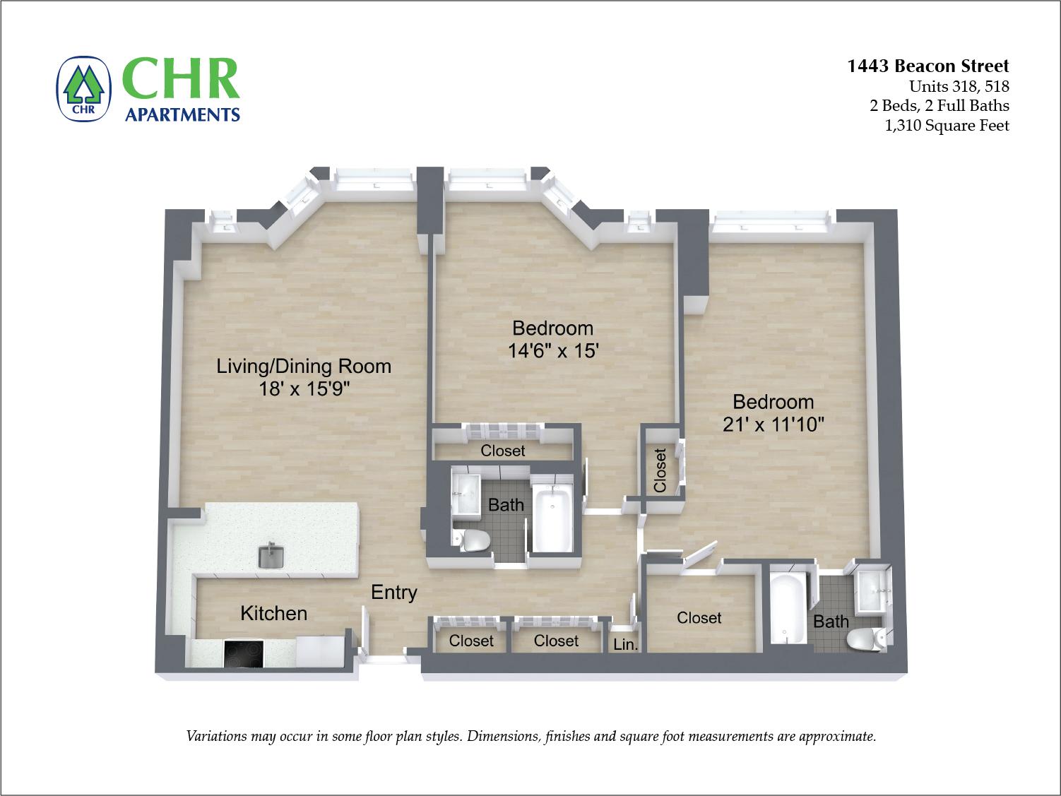 Floor plan 2 BR image 11