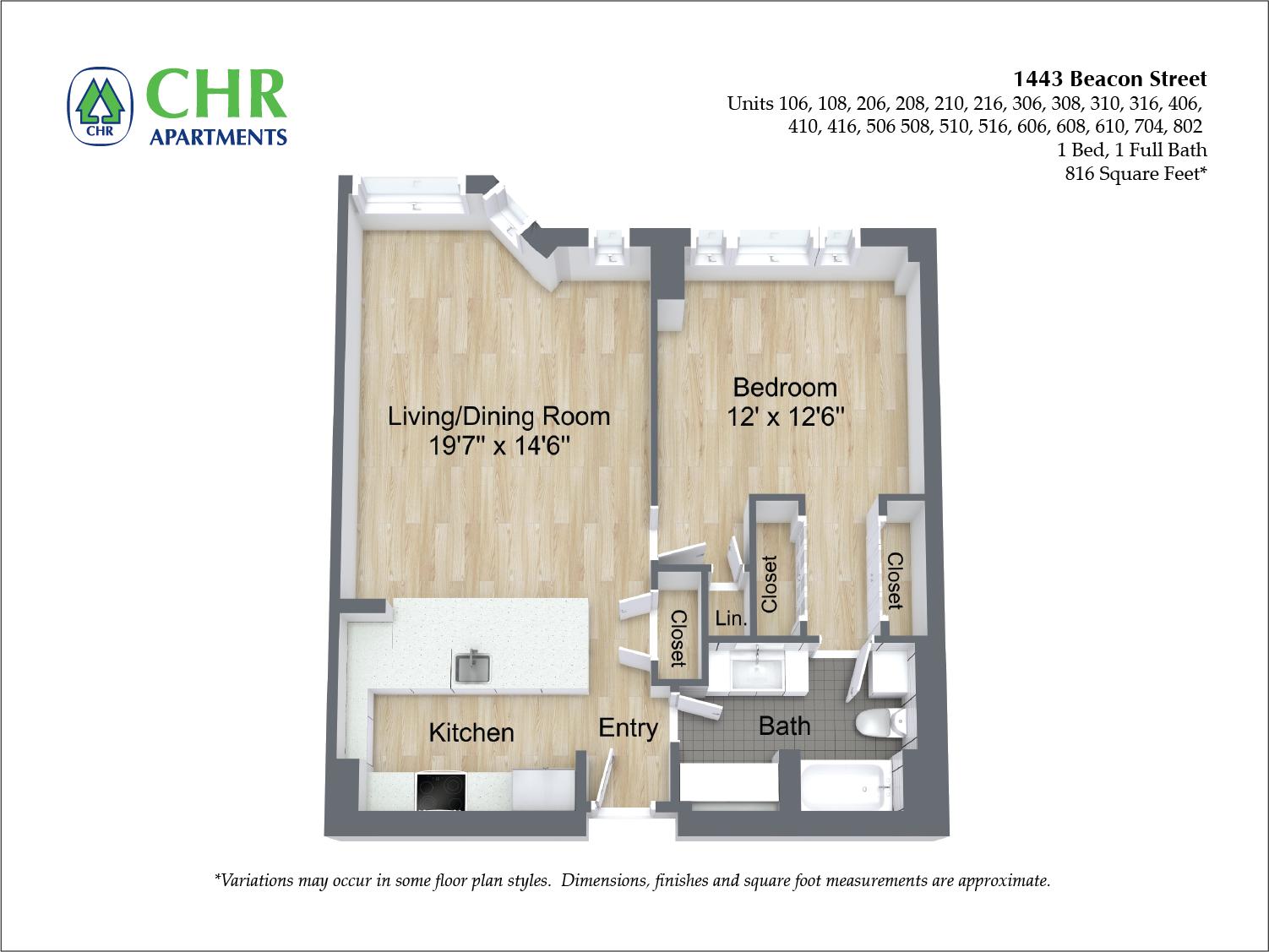 Floor plan 1 Bedroom image 5
