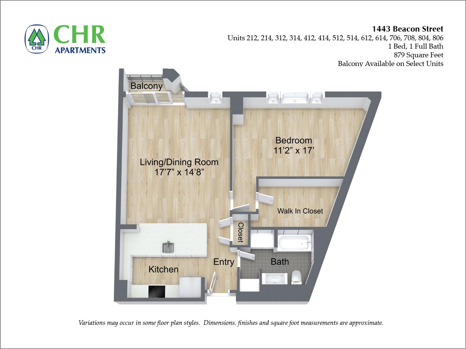 Floor plan 1 BR image 7