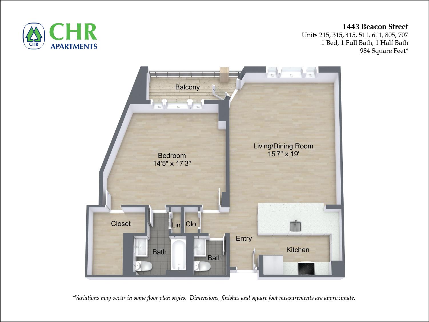 Floor plan 1 BR image 12