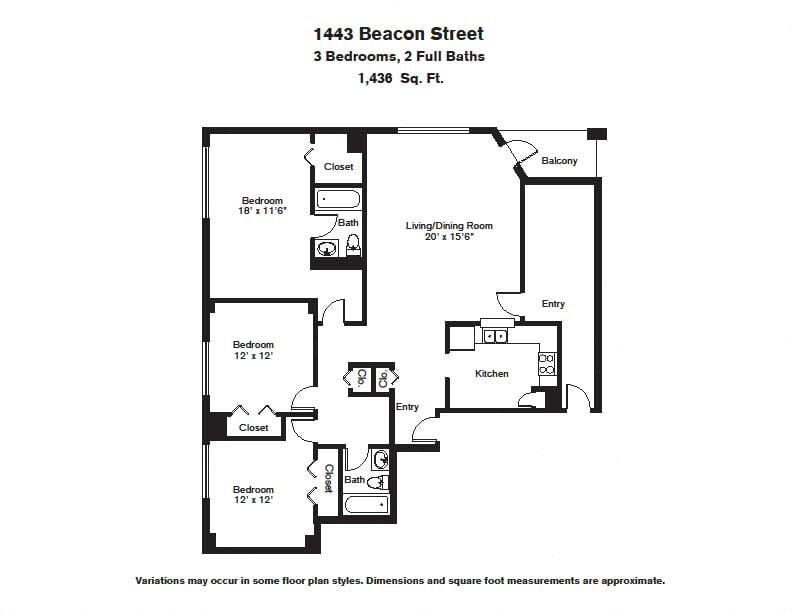 Floor plan 3 BR image 4