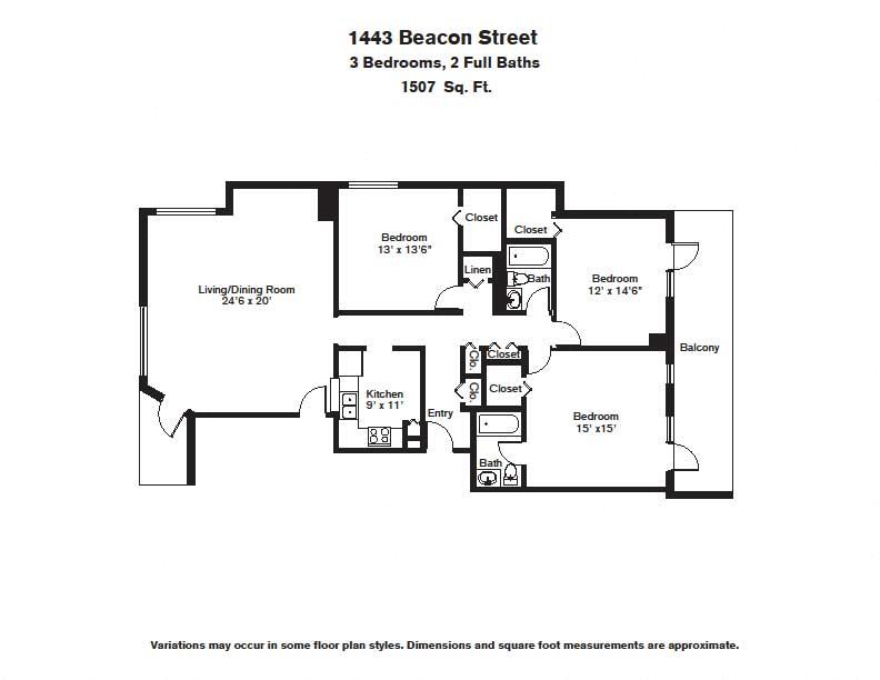 Floor plan 3 BR image 6