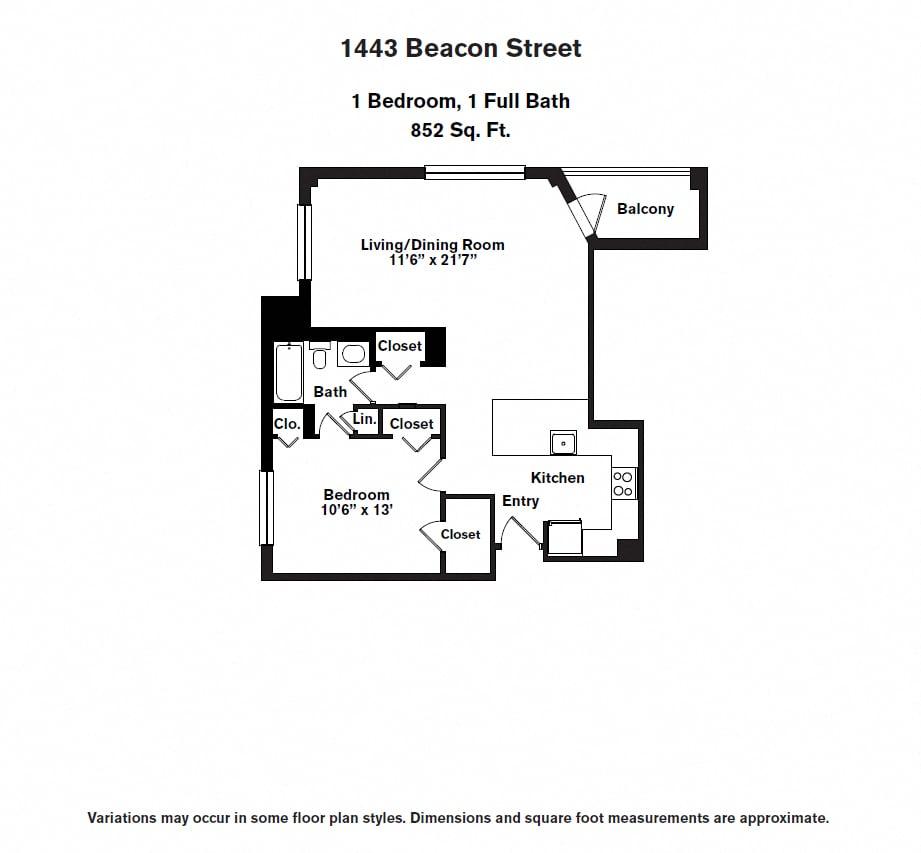 Floor plan 1 BR image 4
