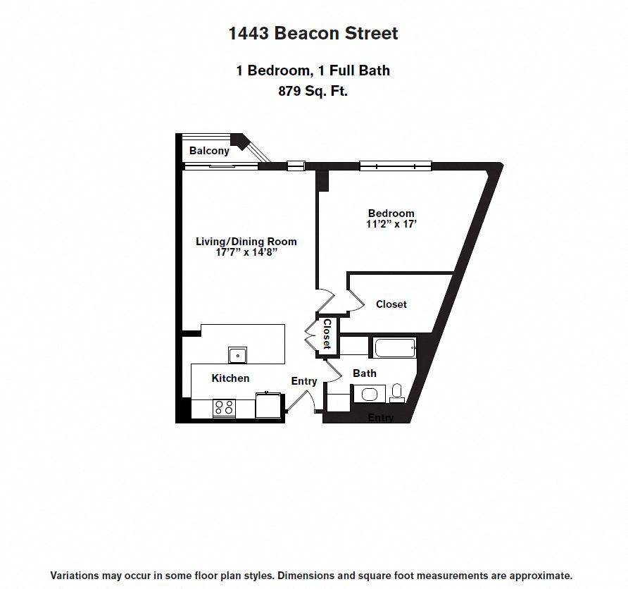 Floor plan 1 BR image 8