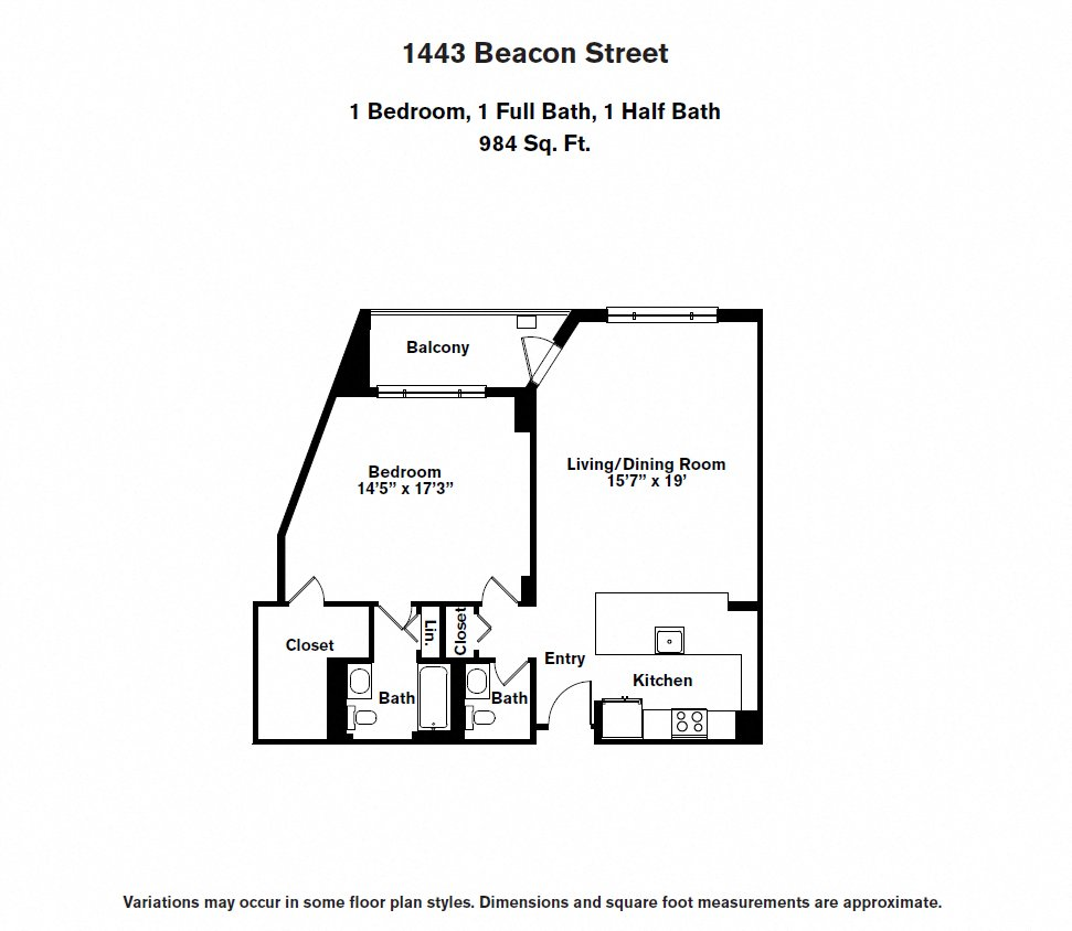 Floor plan 1 BR image 13