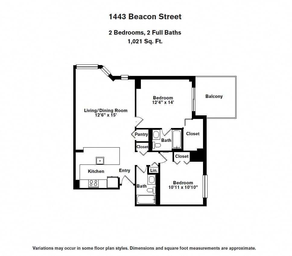 Floor plan 2 BR image 2