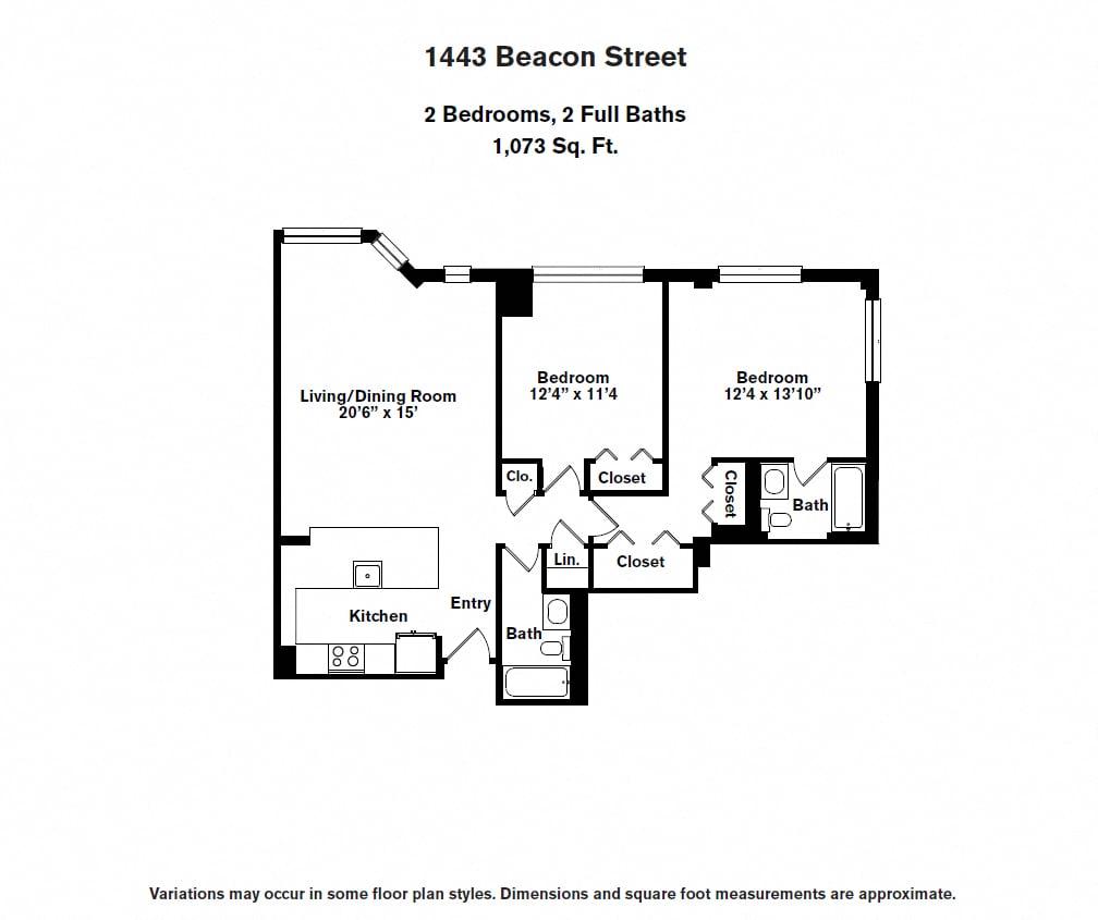 Floor plan 2 BR image 4
