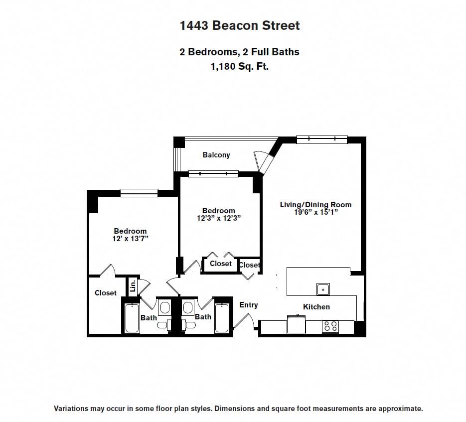 Floor plan 2 BR image 6