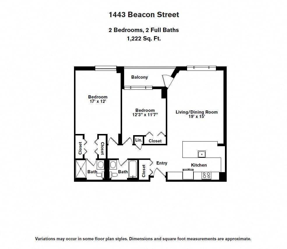Floor plan 2 BR image 8