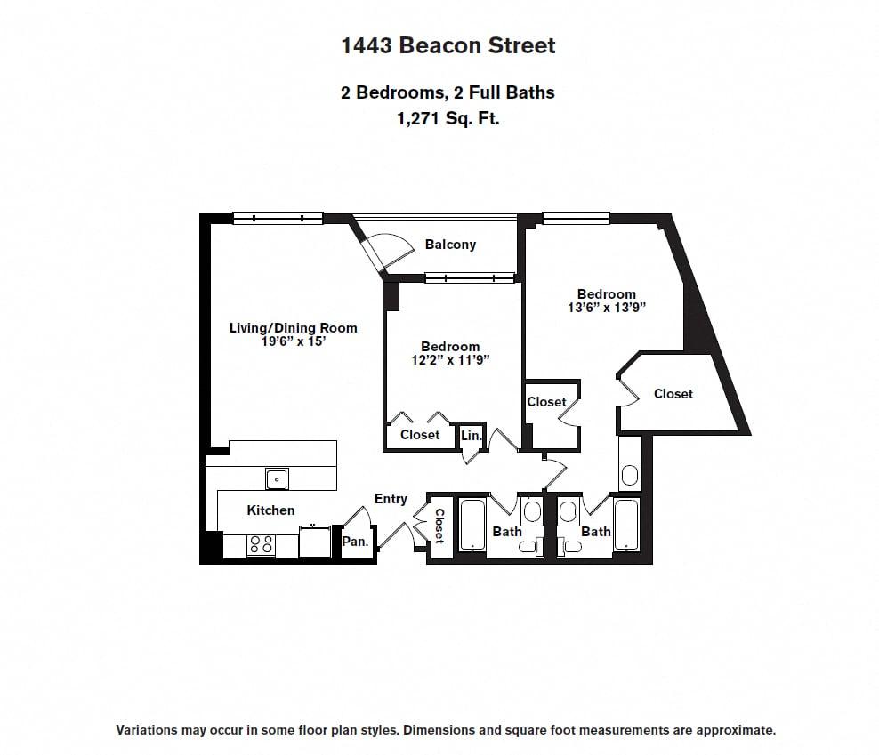 Floor plan 2 BR image 10