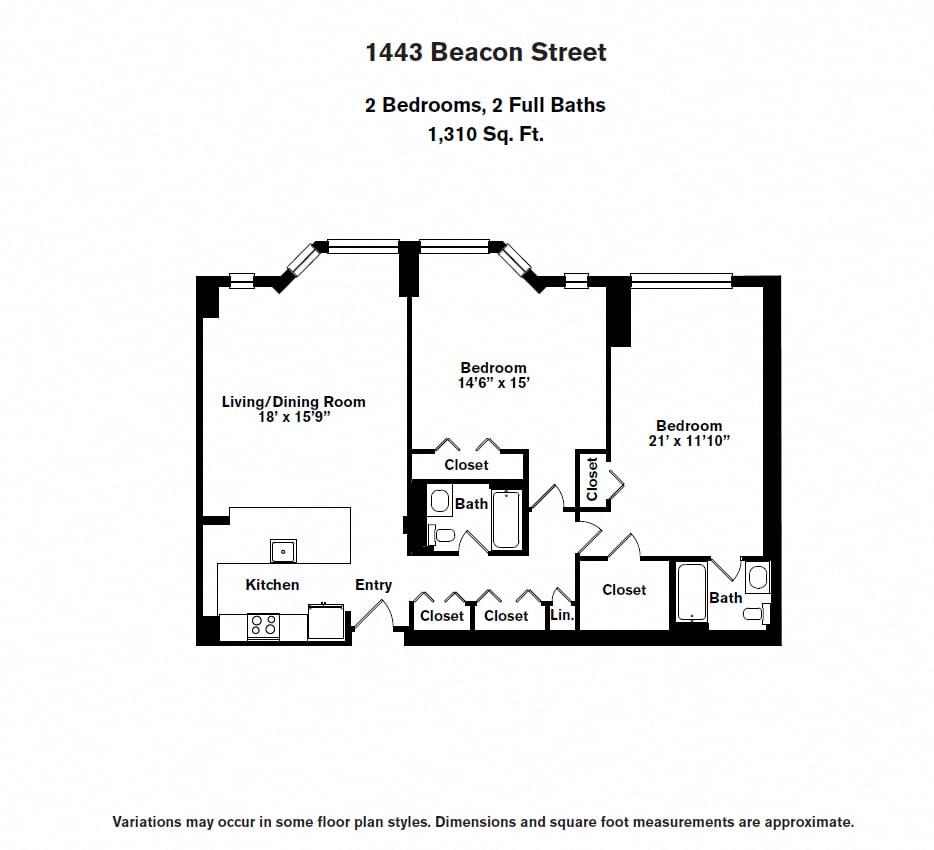 Floor plan 2 BR image 12
