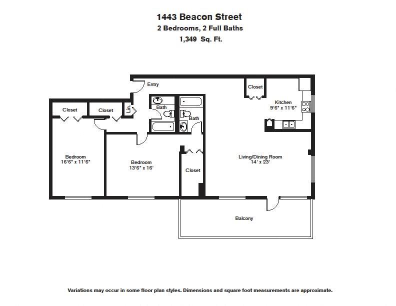 Floor plan 2 BR image 15