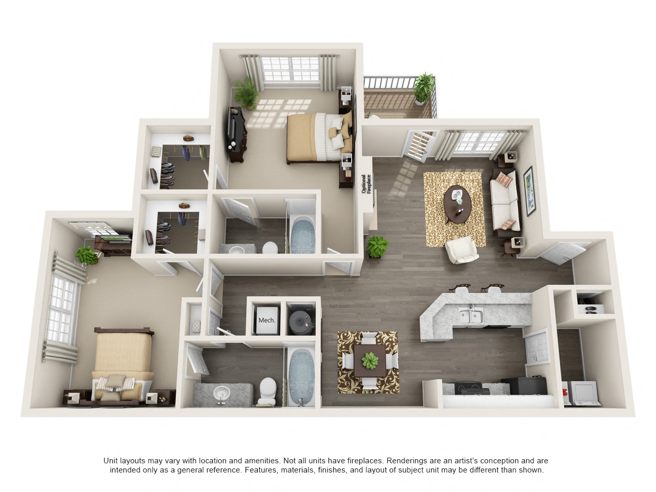 The Arbors at Brookfield Berkshire 2 bd