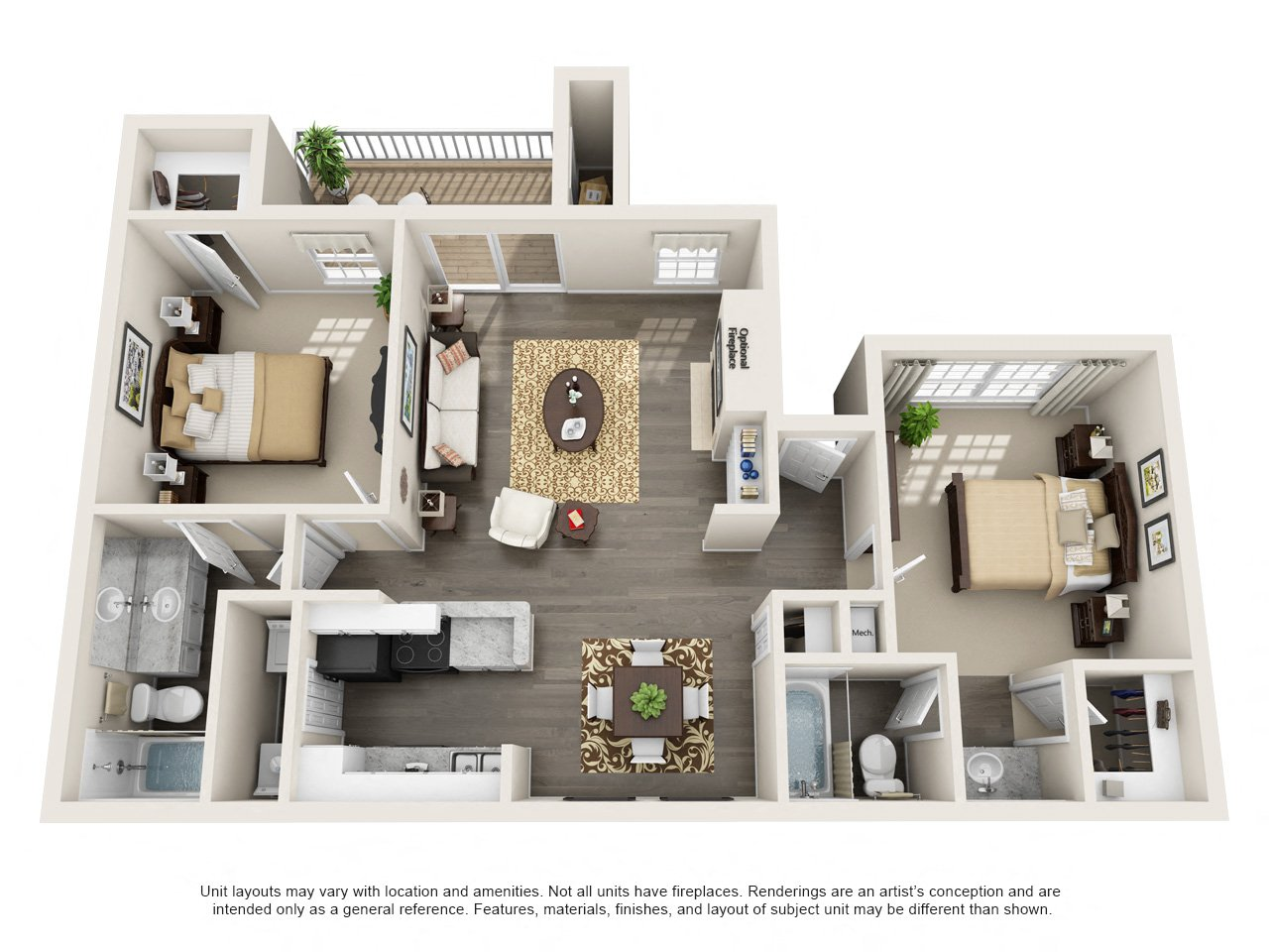 1 and 2 Bedroom Apartments for Rent | The Arbors at Brookfield