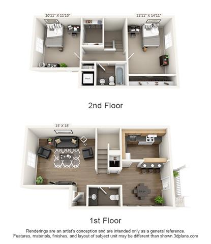 2 Bed 1.5 Bath Photo 3