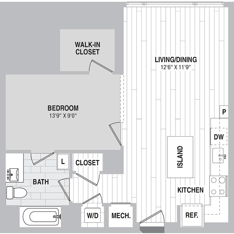 Floor plan for Unit 417