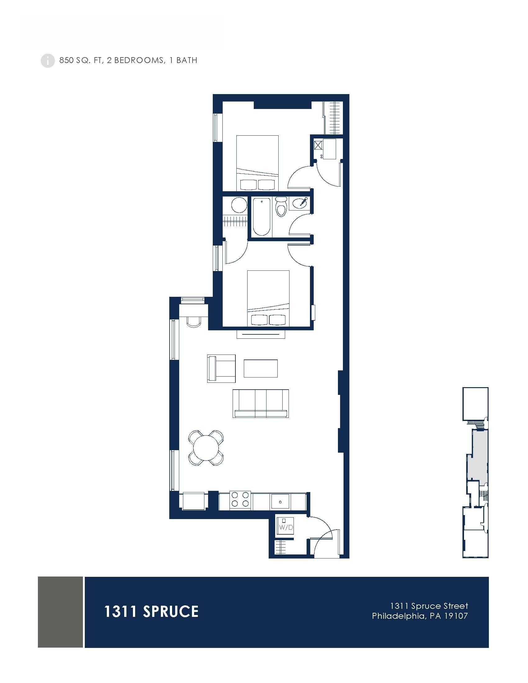 1311 Spruce Street Lofts Floor Plans