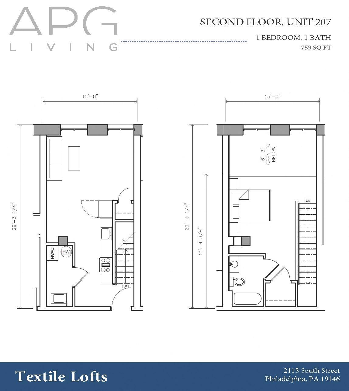 The Textile Lofts Floor Plans