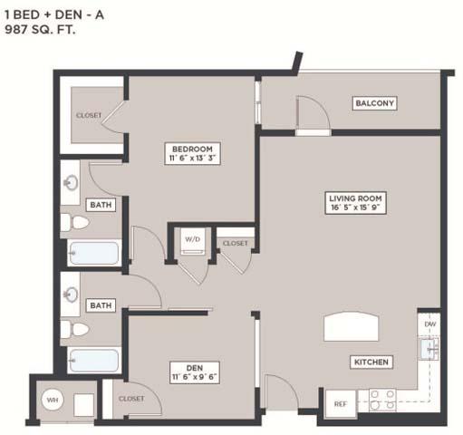 Md annapolis marinerbaycrosswinds p0475870 new 1beddena987sf 2 floorplan