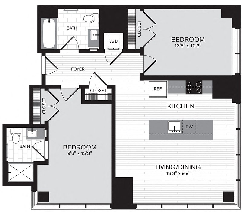 Floor plan image of Apartment 2001