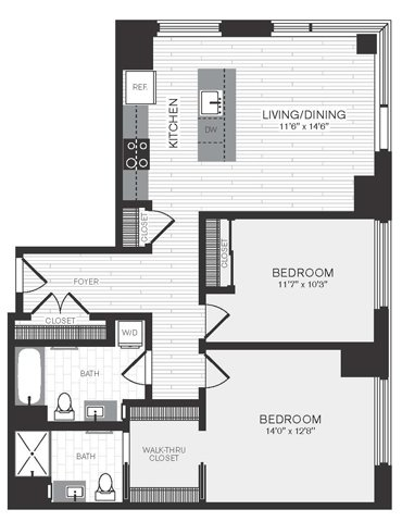Floor plan image of Apartment 1208