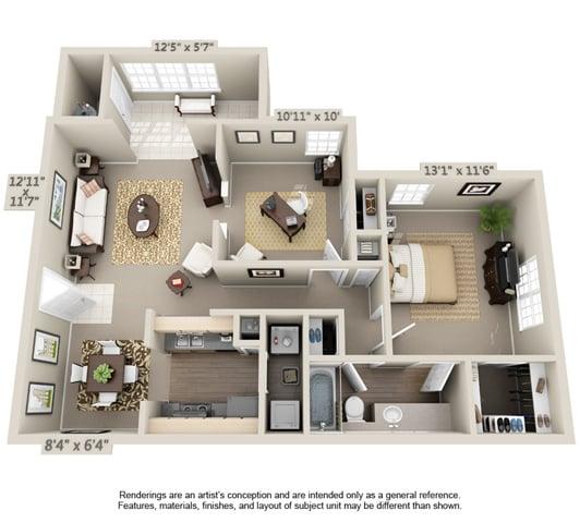 One Bedroom w/Den