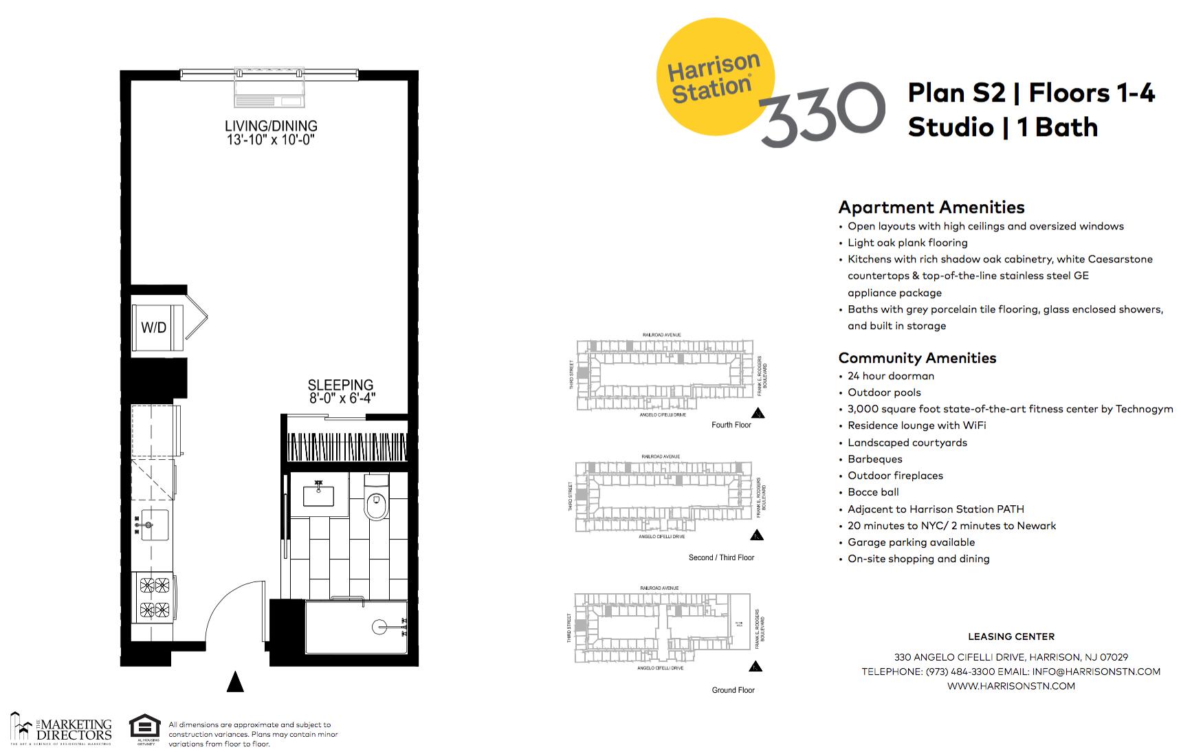 Studio Apartment Nj harrison luxury apartments for rent | harrison station 330 | applied