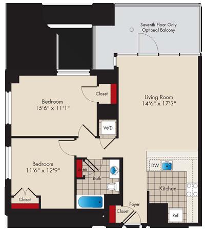 Md baltimore thezenith p0479745 2bedroomj 2 floorplan