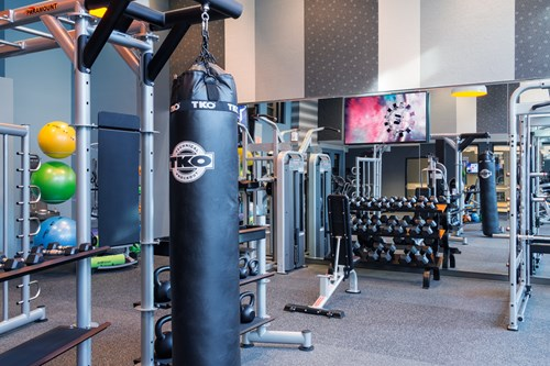 KICK Fitness Center with on-site personal trainer