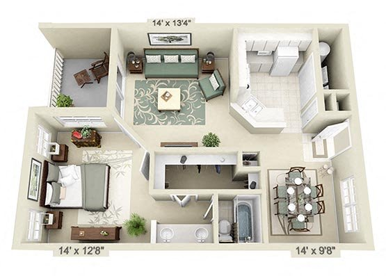 Northwest Gainesville Apartment Floor Plans