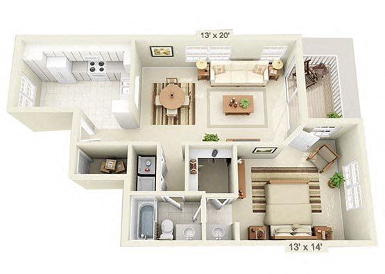1 Bedroom Downstairs